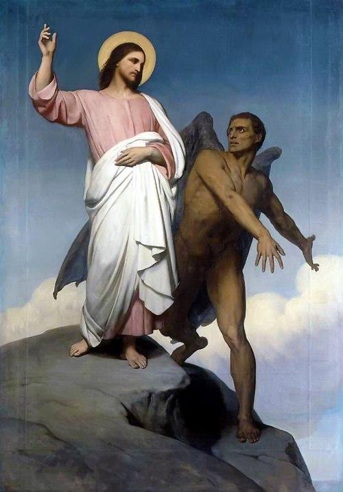 Ary Scheffer - de Verzoeking van Christus
