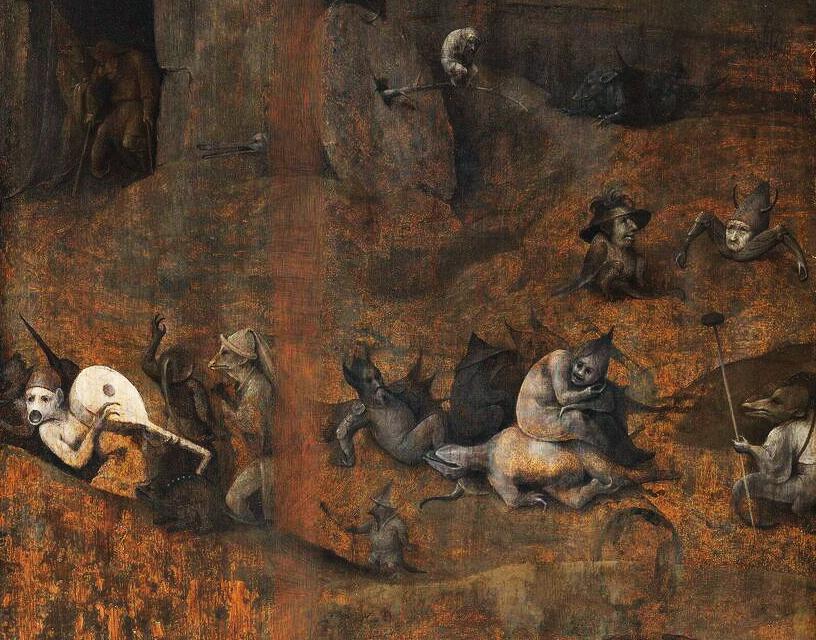Hieronymus Bosch - de Hel en Vloed (detail)