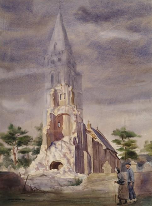 Dwight Shepler - Notre Dame in Colleville-sur-Mer