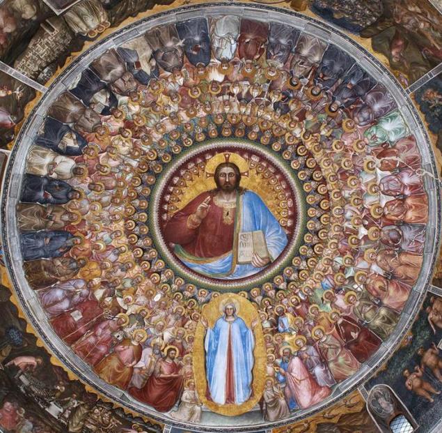 Giusto de Menabuoi - Plafond van het Baptisterium Padua