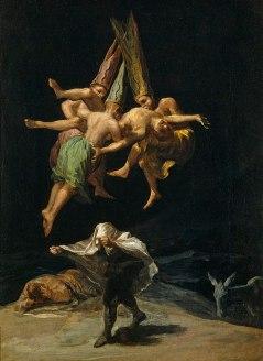 Francisco de Goya - de Vlucht van de Heksen