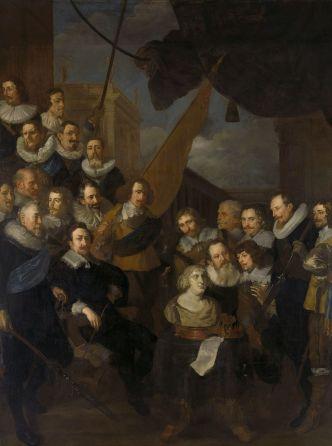 Joachim von Sandrart - Het vendel van Cornelis Bicker en luitenant Frederick van Banchem