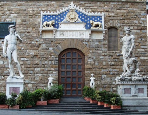 David voor het Palazzo Vecchio