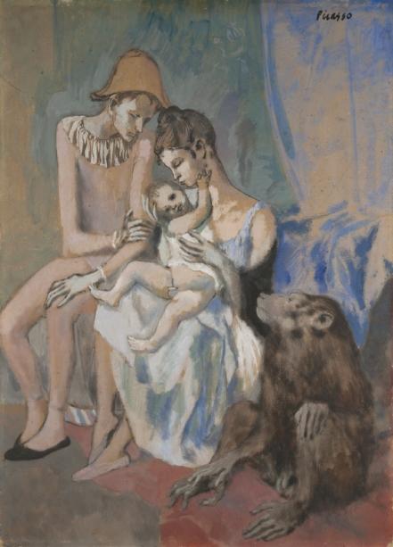 Pablo Picasso - Famille au Singe