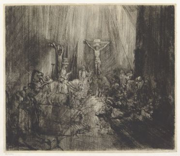 Rembrandt van Rijn - de Drie Kruizen (staat 4)