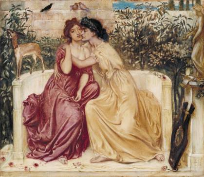 Simeon Solomon - Sappho en Erinna in Mytilene