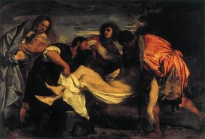 Titiaan - de Graflegging van Christus