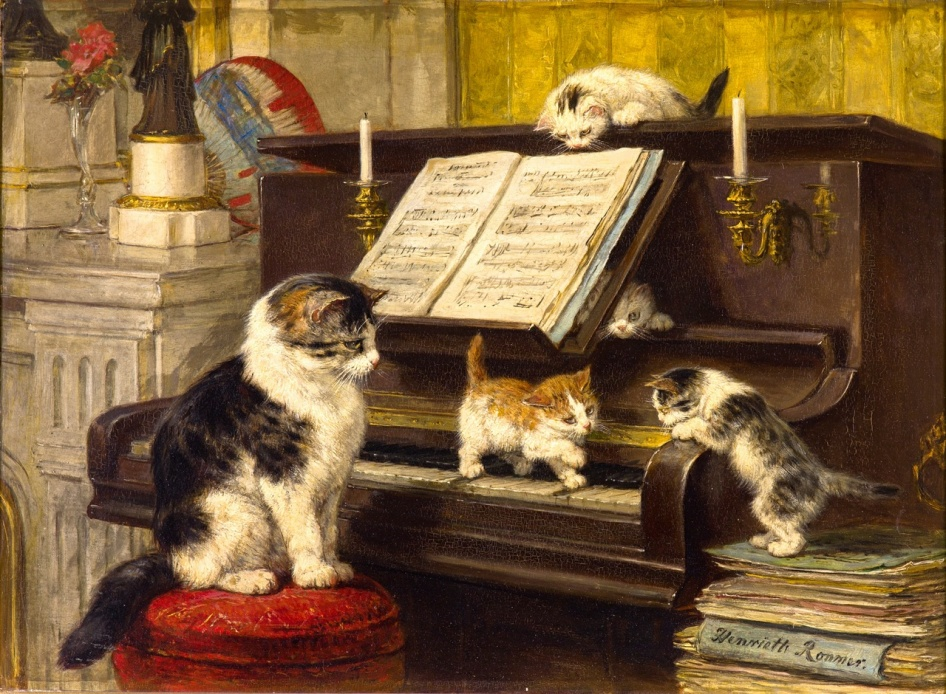 Henriëtte Ronner-Knip - Pianoles