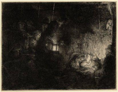 Rembrandt van Rijn - Aanbidding van de Herders