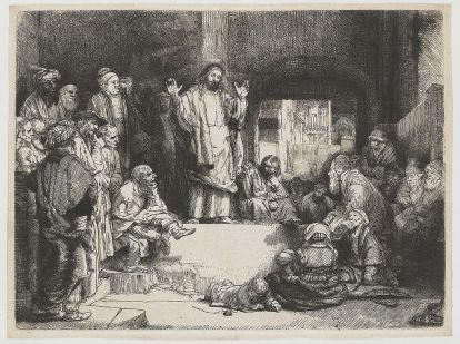 Rembrandt van Rijn - Prekende Jezus