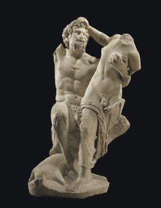 Satyr en Hermafroditus