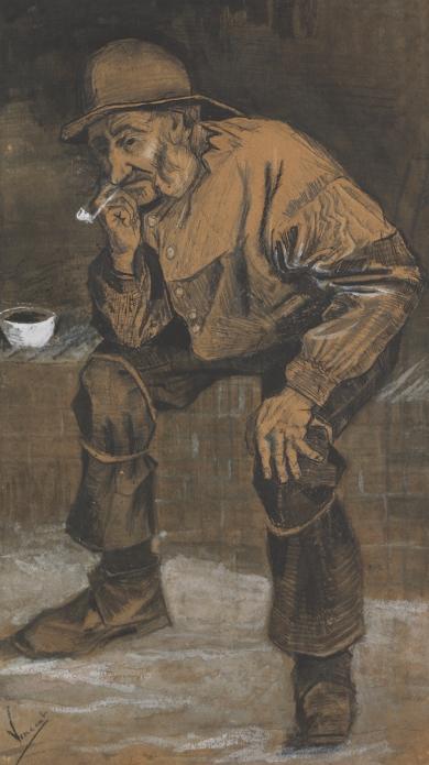 Vincent van Gogh - Zittende oude visser Januari-februari 1883, Kröller-Müller Museum, Otterloo