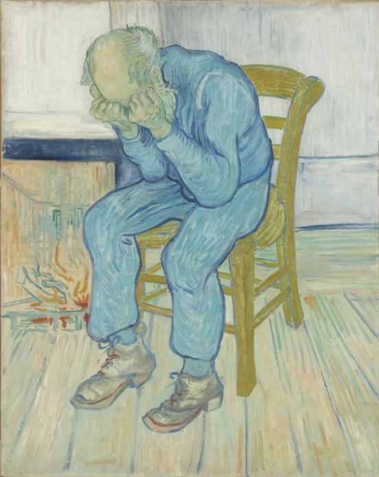 Vincent van Gogh - Treurende oude man ('At Eternity's Gate') Mei 1890, Kröller-Müller Museum, Otterlo