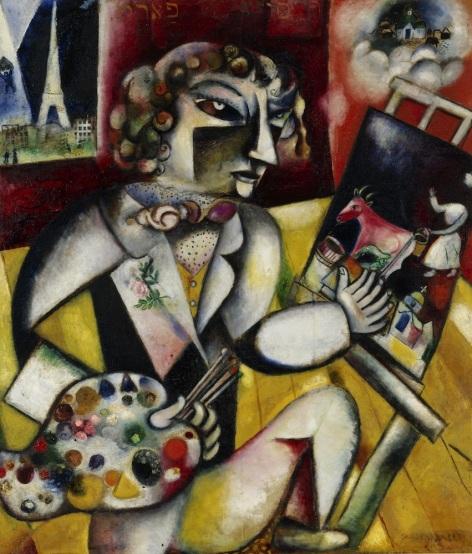 Marc Chagall - Zelfportret met Zeven Vingers