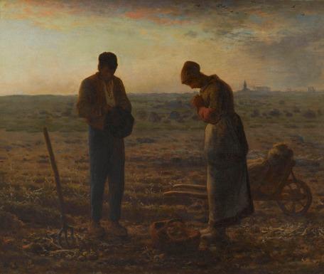 Jean-François Millet, 'Het angelus', 1857-1859, Musée d'Orsay, Parijs (legaat van Alfred Chauchard, 1910)