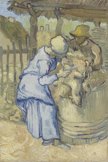 Vincent van Gogh - De schapenscheerster (naar Millet), Van Gogh Museum, Amsterdam (Vincent van Gogh Stichting)