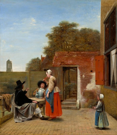 Pieter de Hooch - Hollandse Binnenplaats. National Gallery of Art, Washington