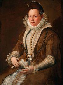 Lavinia Fontana - Vrouw met een Hondje