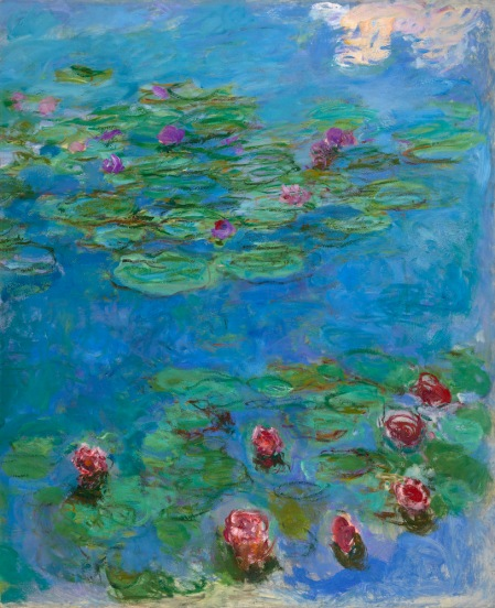 Claude Monet (1840-1926), Waterlelies, 1914-17, olieverf op doek, 166,1 x 142,2 cm, Fine Arts Museum of San Francisco.