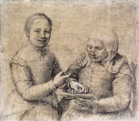 Sofonisba Anguissola - Oude vrouw met lachend meisje