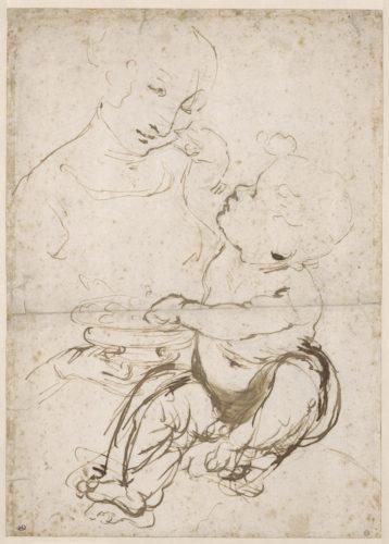 Leonardo da Vinci - Étude de Vierge à l'Enfant © RMN-Grand Palais