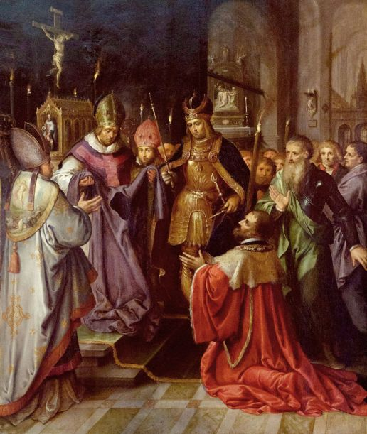 Frans Francken - Presentatie van de heilige tuniek aan Karel V