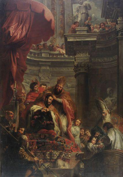 Jan Quellinus - Kroning van Keizer Karel V