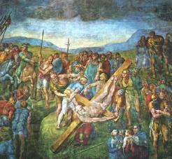 Michelangelo - de Kruisiging van Petrus