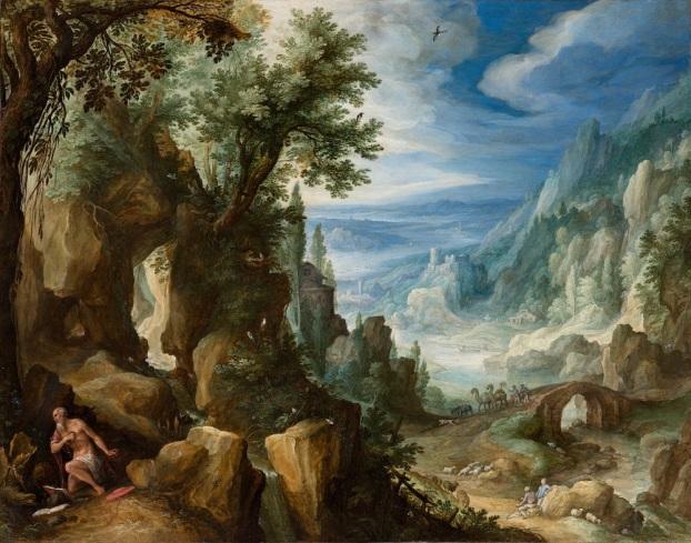 Paul Bril - Berglandschap met de heilige Hieronymus (Mauritshuis)
