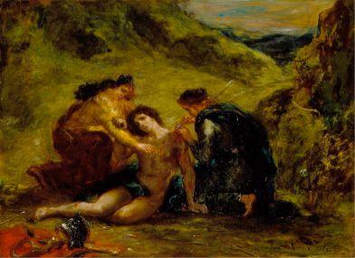 Eugene Delacroix - Sint Sebastiaan