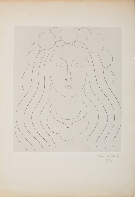 Henri Matisse, Fee met glinsterende kap / Aandenken aan Mallarmé, 1933, Kunstmuseum Pablo Picasso Münster, © Succession Henri Matisse, c/o Pictoright Amsterdam 2019