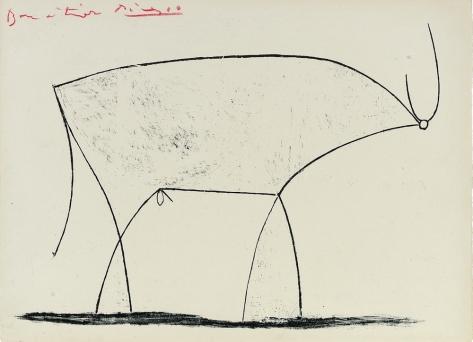 Pablo Picasso, De Stier, 1946, Kunstmuseum Pablo Picasso Münster, c/o Pictoright A'dam 2019