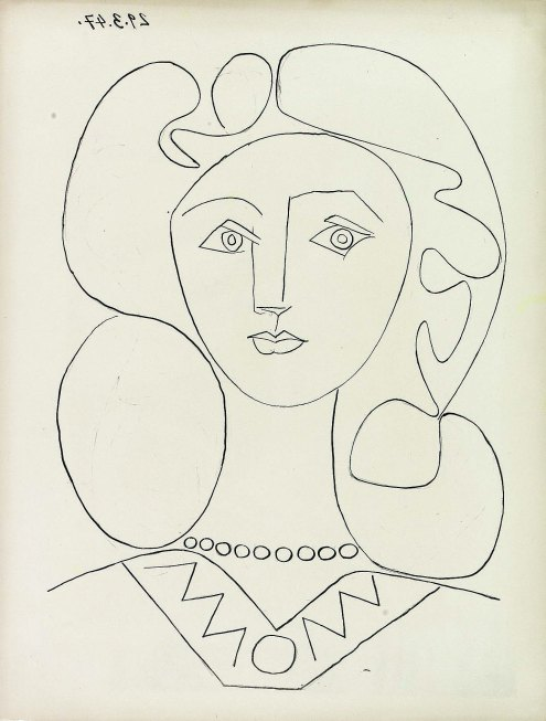 Pablo Picasso, Vrouw met halsketting, 1947, Kunstmuseum Pablo Picasso Münster, c/o Pictoright A'dam 2019