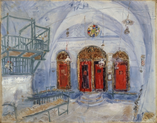 Marc Chagall - Interieur van een Synagoge