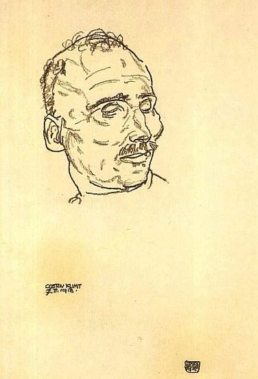 Egon Schiele - Klimt op zijn Dodenbed