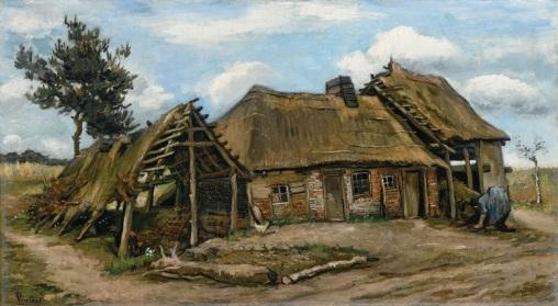 Vincent van Gogh - Boerin voor een Boerderij