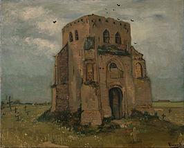 Vincent van Gogh - de Oude Kerk (situatie in 1885)