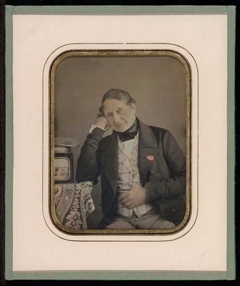 Jean-Gabriel Eynard - Ingekleurde daguerreotype (zelfportret)