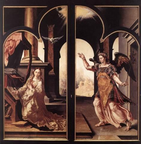 Maarten van Heemskerck - de Annunciatie