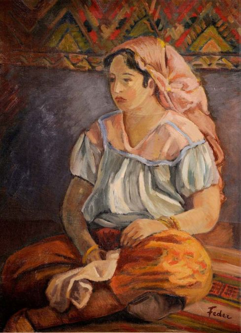 Adolphe Feder - Turkse Vrouw