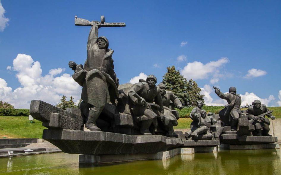 Oversteken van de Djnepr - Kiev, Oekraïne