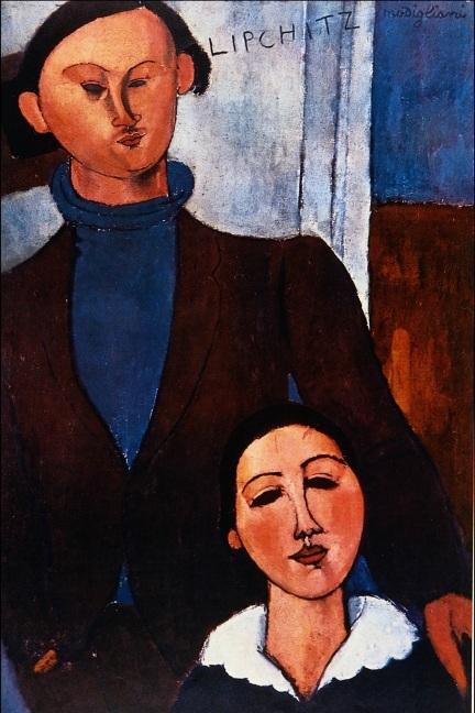 Amedeo Modigliani - Jacques Lipchitz en zijn vrouw
