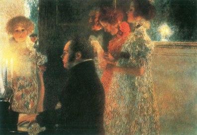 Gustav Klimt - Schubert aan de Piano