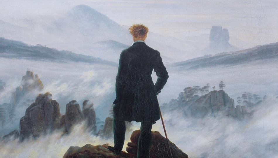 Waar vind je de overweldigende natuur uit Friedrich's Wandelaar? –  //Vensters