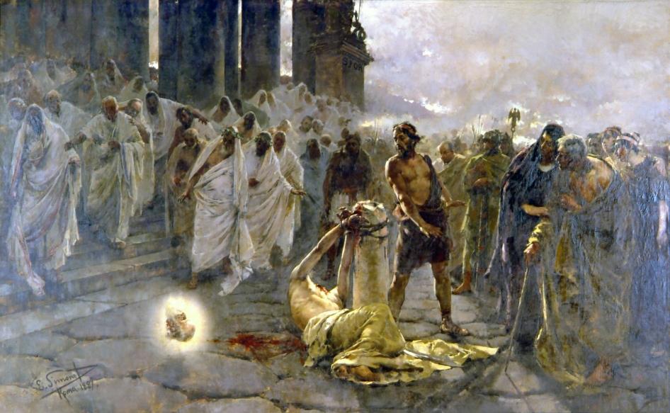 Enrique Simonet - Onthoofding van Paulus