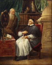 David Teniers - Bischop Antonius Triest en zijn broer Eugene