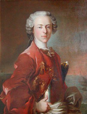 Louis Tocqué - Portret van Frederik de Løvenørn