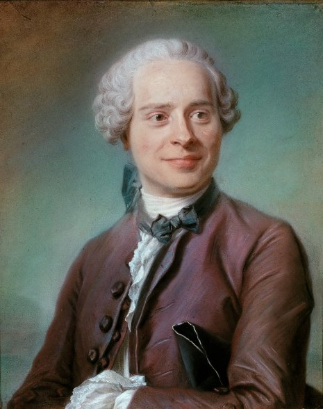 Maurice Quentin de la Tour - Portret van Jean d'Alembert