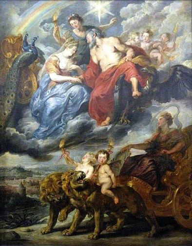 Peter Paul Rubens - de Ontmoeting van Henri IV en Maria de Medici in Lyon
