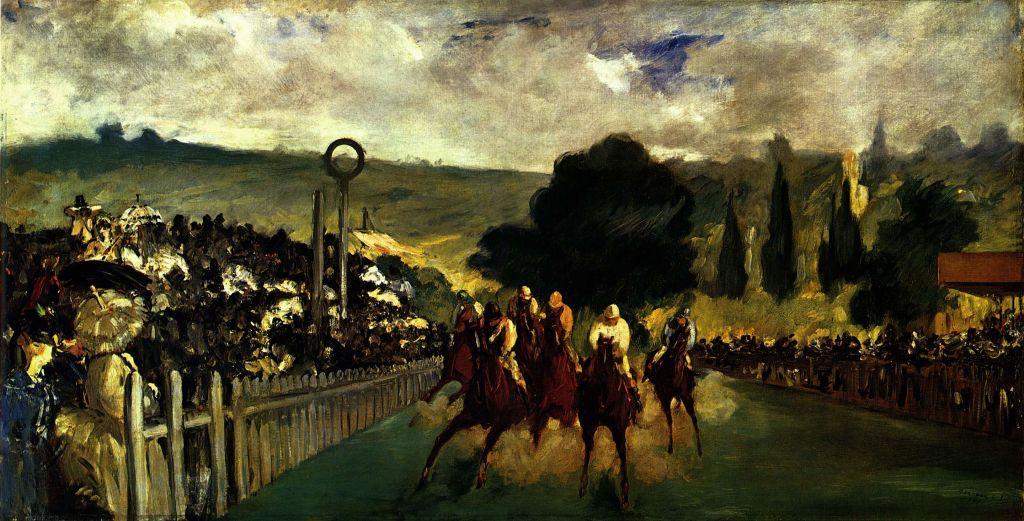 Edouard Manet - Paardenrennen in Longchamp
